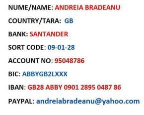 Andreia Bradeanu cont