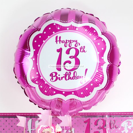 perfectly-pink-13th-birthday-foil-balloon-PERFFOIL13_lg