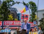 Protest la bruxelles pentru sustinerea Familiei Barbu2