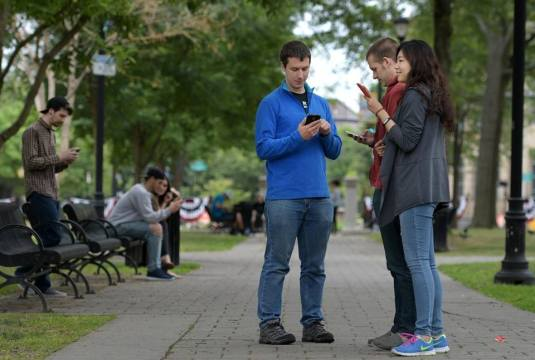 young people and adulta phone pokemon