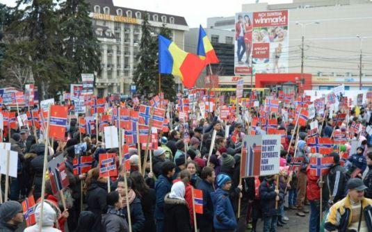 Familia Bodnariu protest