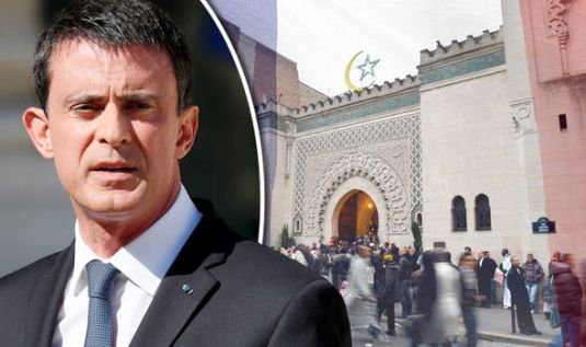FRENCH President Manuel Valls FOTO Express.co.uk mosque