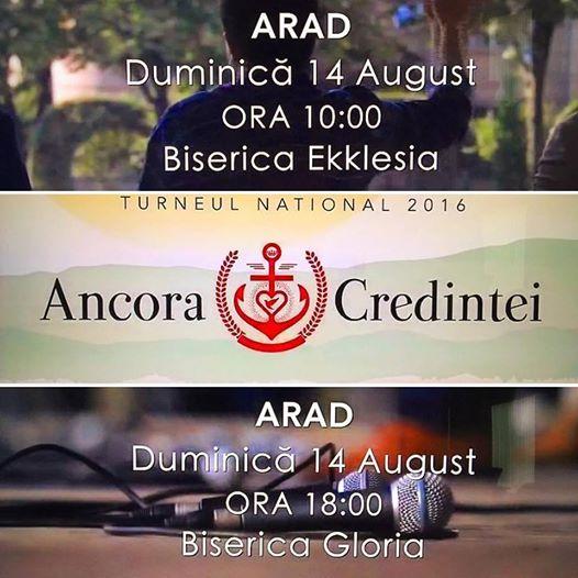 Messengers la Arad 14 august