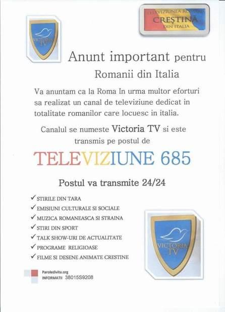 victoria-tv-italia Biserica Sfanta Treime Roma