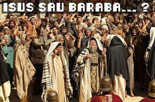 isus-sau-baraba FOTO http://www.christianacademy-ourhope.org/Lenten-Thoughts.html