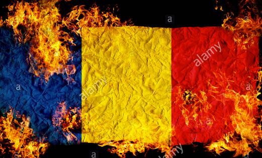 fire-flag-romania-alamy-foto