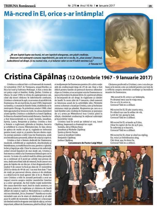 cristina-capa%cc%82lnas%cc%a6-12-oct-1967-9-ian-2017-ma%cc%86-ncred-i%cc%82n-el-orice-s-ar-i%cc%82nta%cc%82mpla-romanian-tribune-newspaper-chicago-usa
