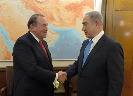 Mike Huckabee and Netanyahu Photo