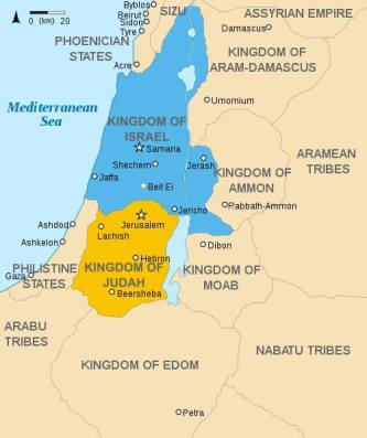 Foto israel_and_judah_map Edom, Moab, and Ammon Dwellingtheword.wordpress.png