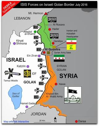 israeli-forces-on-border-with-isis-in-syria FOTO