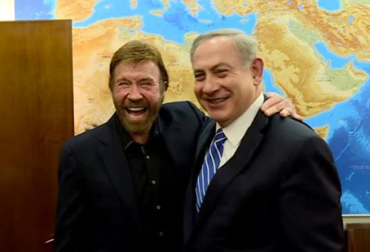 chuck-norris-with-benjamin-netanyahu-foto-captura-youtube-8-feb-17