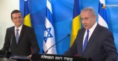Grindeanu Israel cu Netanyahu Foto captura video Agerpres 2
