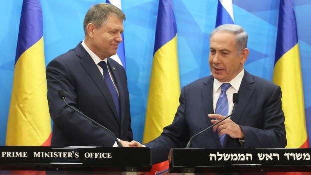 Iohannis Netanyahu Israel Romania foto timesofisrael.com