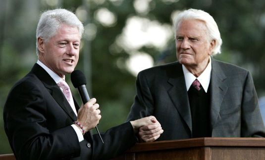 Bill Clinton Billy Graham foto Franklin Graham