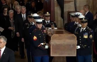 Billy Graham lie in Rotunda Washington DC Foto captura 1