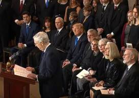 Billy Graham lie in Rotunda Washington DC Foto captura 5