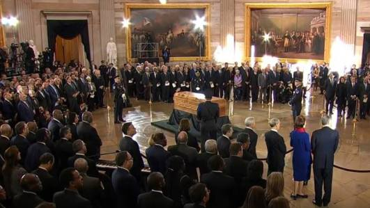 Billy Graham lie in Rotunda Washington DC Foto captura