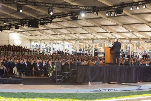 Franklin Graham preaching at Billy Graham's funeral March 2,2018