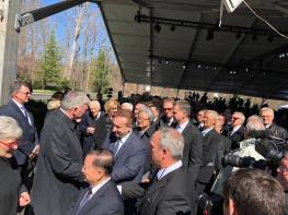 Ionel L Tutac cu Franklin Graham - Billy Graham inmormantare