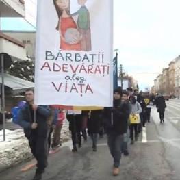 Marsul pentru viata Sibiu foto captura Agnus Dei 3