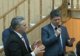Titus Corlatean Biserica Baptista Sion Sibiu cu pastor Sorin Cigher