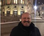 Valeriu Ghilețchi - În fața Parlamentului din Norvegia