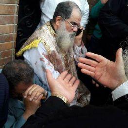 Biserica atacata in Egipt, fiul preotului una din victime foto Twitter