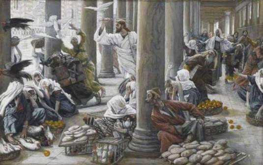 Jesus in Temple Tissot foto Wikimedia