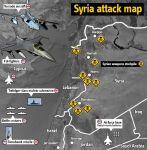 Syria attack map foto Israel news viaPinterest