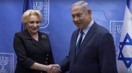 Viorica Dancila cu Benjamin Netanyahu foto captura