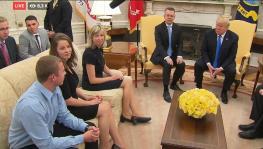 Brunson family with Trump ay Whitw House foto captura Youtube