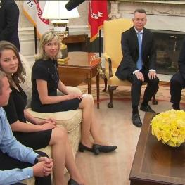 Brunson family with Trump ay Whitw House foto captura Youtube
